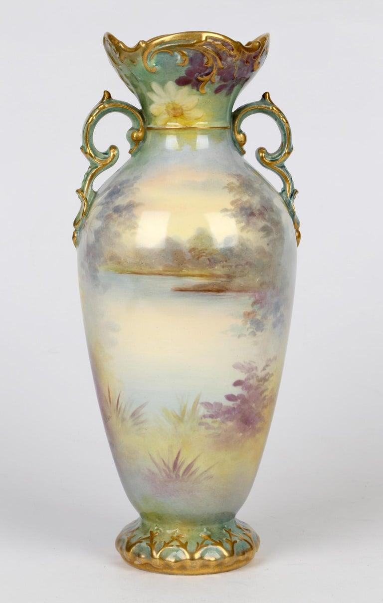 Royal Bonn German Art Nouveau Painted Vase with Female Water Carrier by J Dűren 5