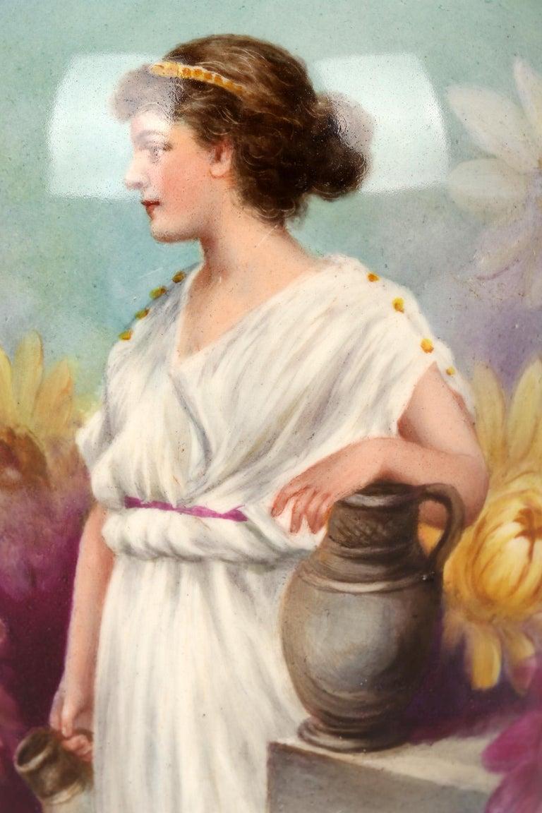 Royal Bonn German Art Nouveau Painted Vase with Female Water Carrier by J Dűren 3
