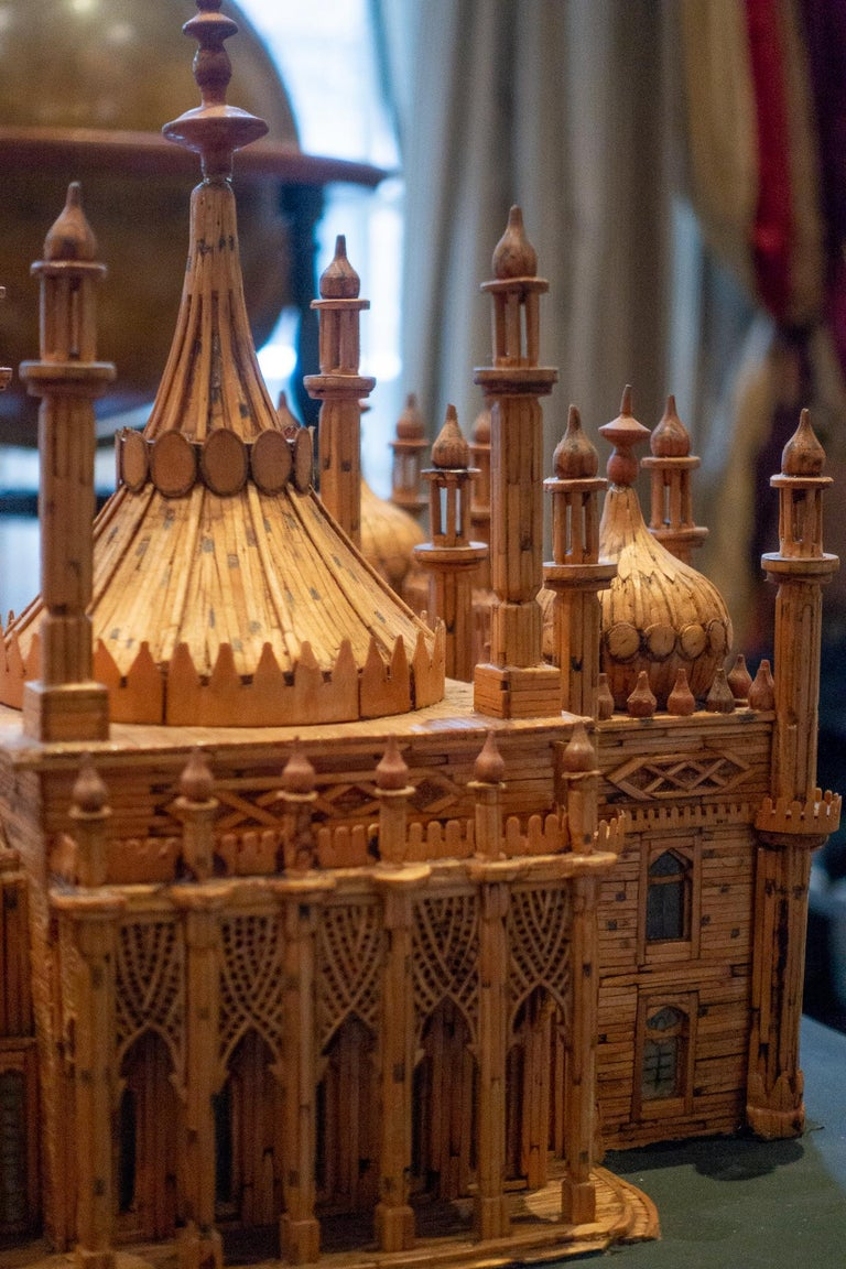 Royal Brighton Pavilion Matchstick Architectural Model by Bernard Martell For Sale 3