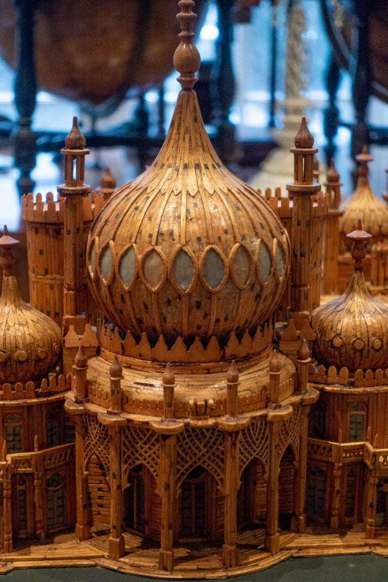 Royal Brighton Pavilion Matchstick Architectural Model by Bernard Martell For Sale 4