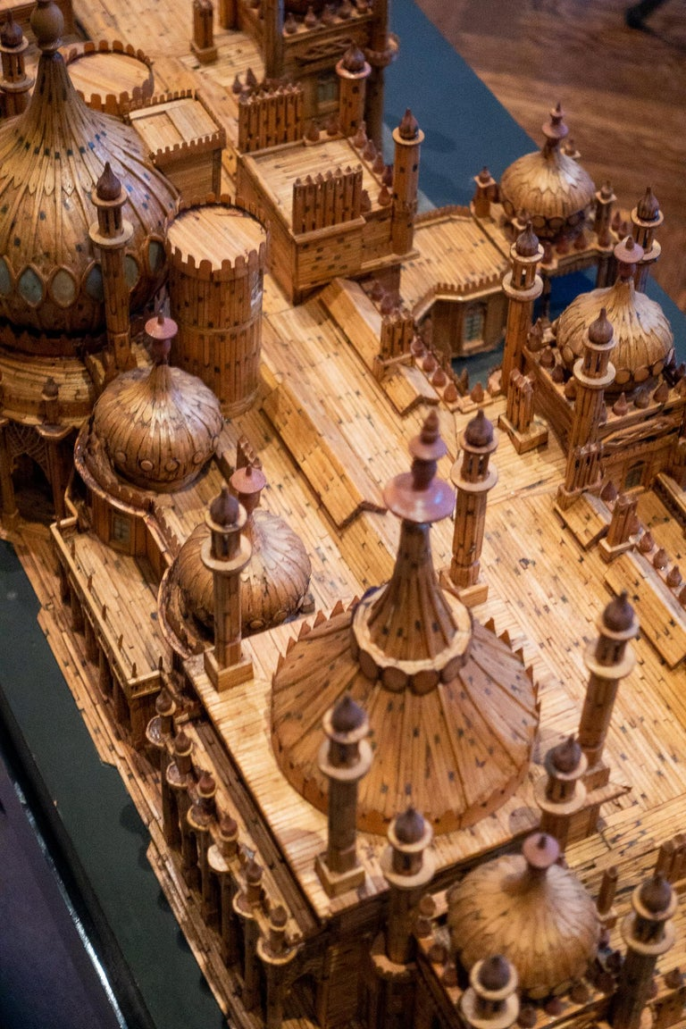 Royal Brighton Pavilion Matchstick Architectural Model by Bernard Martell For Sale 5