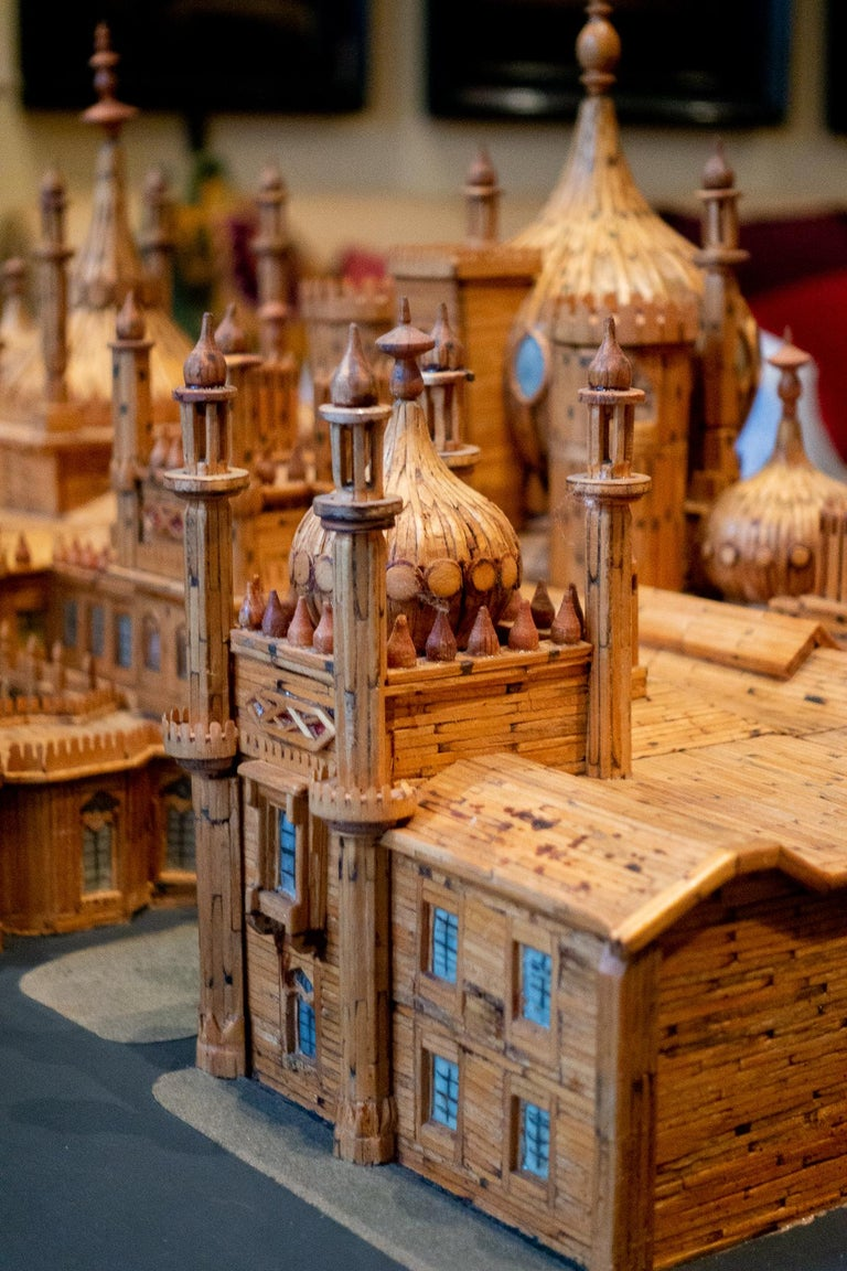 Royal Brighton Pavilion Matchstick Architectural Model by Bernard Martell In Good Condition For Sale In New York, NY