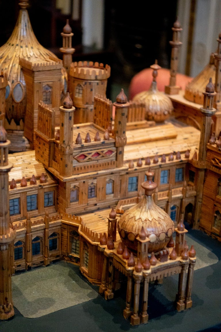 Glass Royal Brighton Pavilion Matchstick Architectural Model by Bernard Martell For Sale