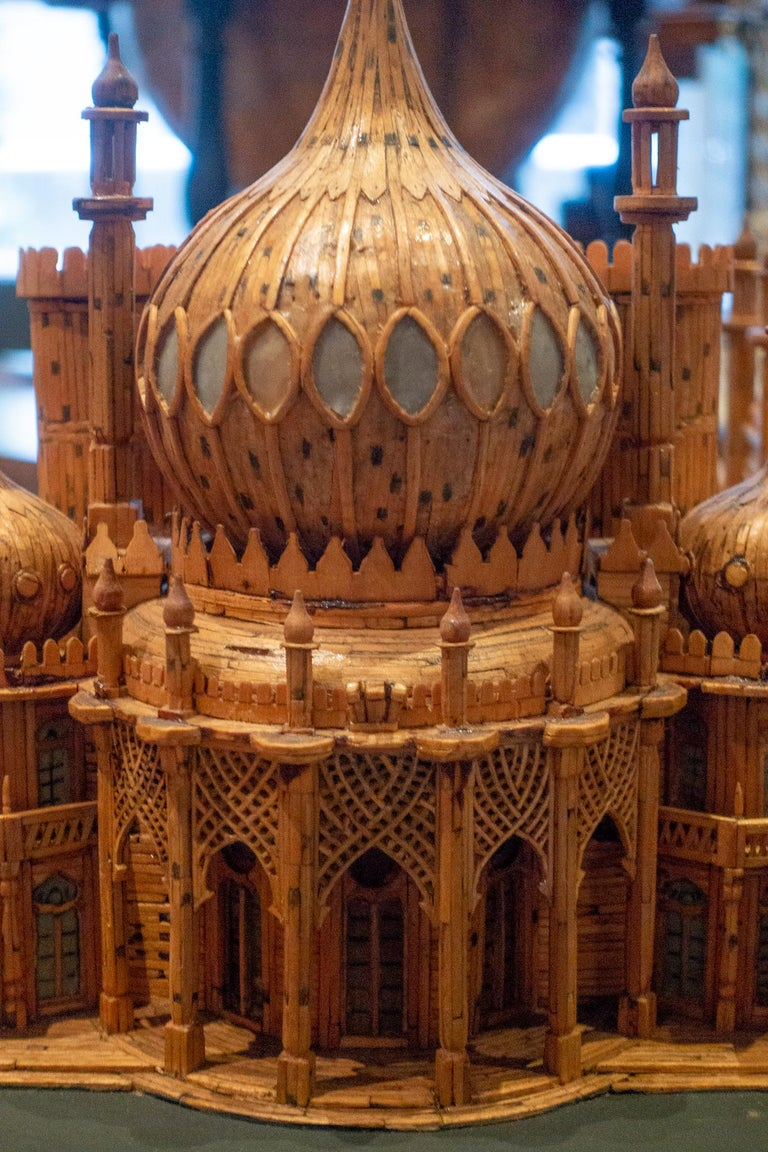 Royal Brighton Pavilion Matchstick Architectural Model by Bernard Martell For Sale 1