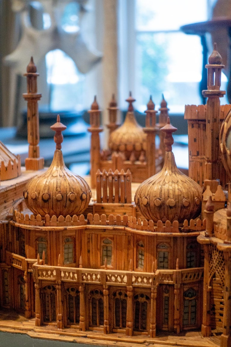 Royal Brighton Pavilion Matchstick Architectural Model by Bernard Martell For Sale 2