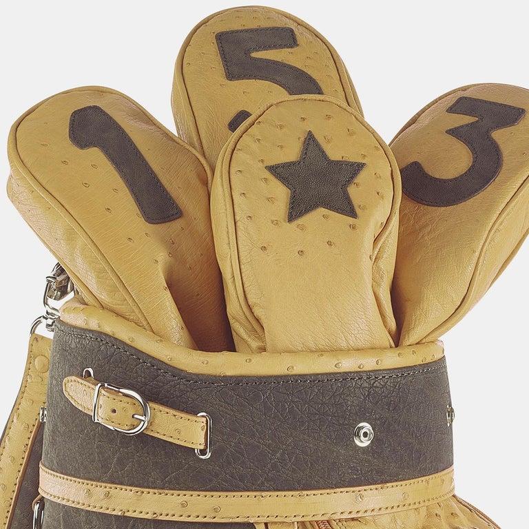 Modern Royal Camel Golf Bag by Barchi For Sale