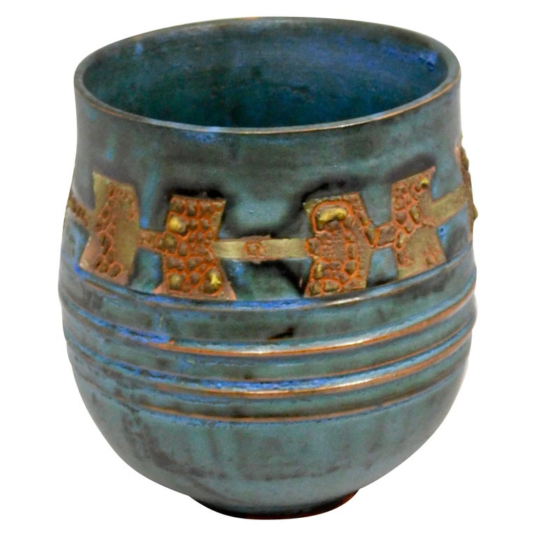 Royal Canyon Ceramic Vessel by Andrew Wilder, 2018 For Sale