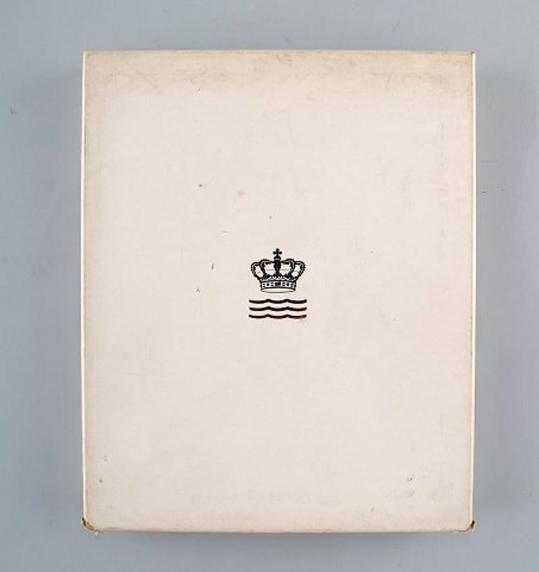 Danish Royal Copenhagen Annual Frame from 1977 'Large', 3 Pieces For Sale