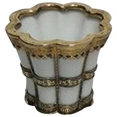 Royal Copenhagen Anton Michelsen White Margrethe Cup in Porcelain and Sterling