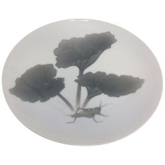 Royal Copenhagen Art Nouveau Motif Plate with Grasshopper n 58/8