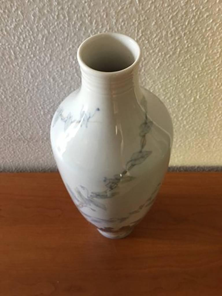 Danish Royal Copenhagen Art Nouveau Unique Vase by Catharina Zernichow For Sale