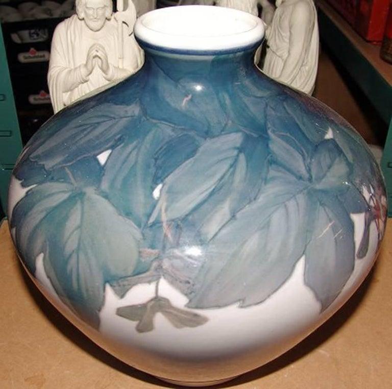 Royal Copenhagen Art Nouveau unique vase. Measures 26 cm is signed NO, Privat and is in good condition.