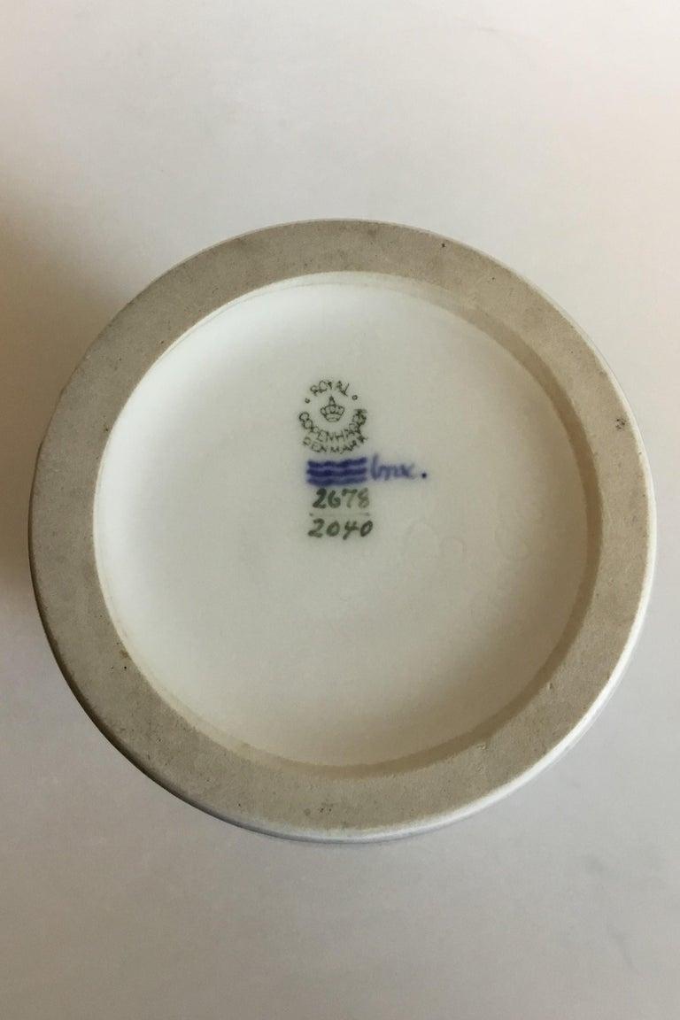 Hand-Painted Royal Copenhagen Art Nouveau Vase No 2678/2420 For Sale