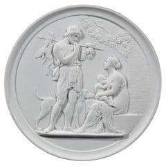 Royal Copenhagen Bisque Porcelain Plaque