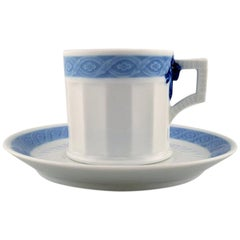 Royal Copenhagen Blue Fan, Coffee Cup with Saucer, 17 Sets in Stock