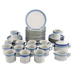 Royal Copenhagen Blue Fan Coffee Service for Twelve People, Dated 1985-1991