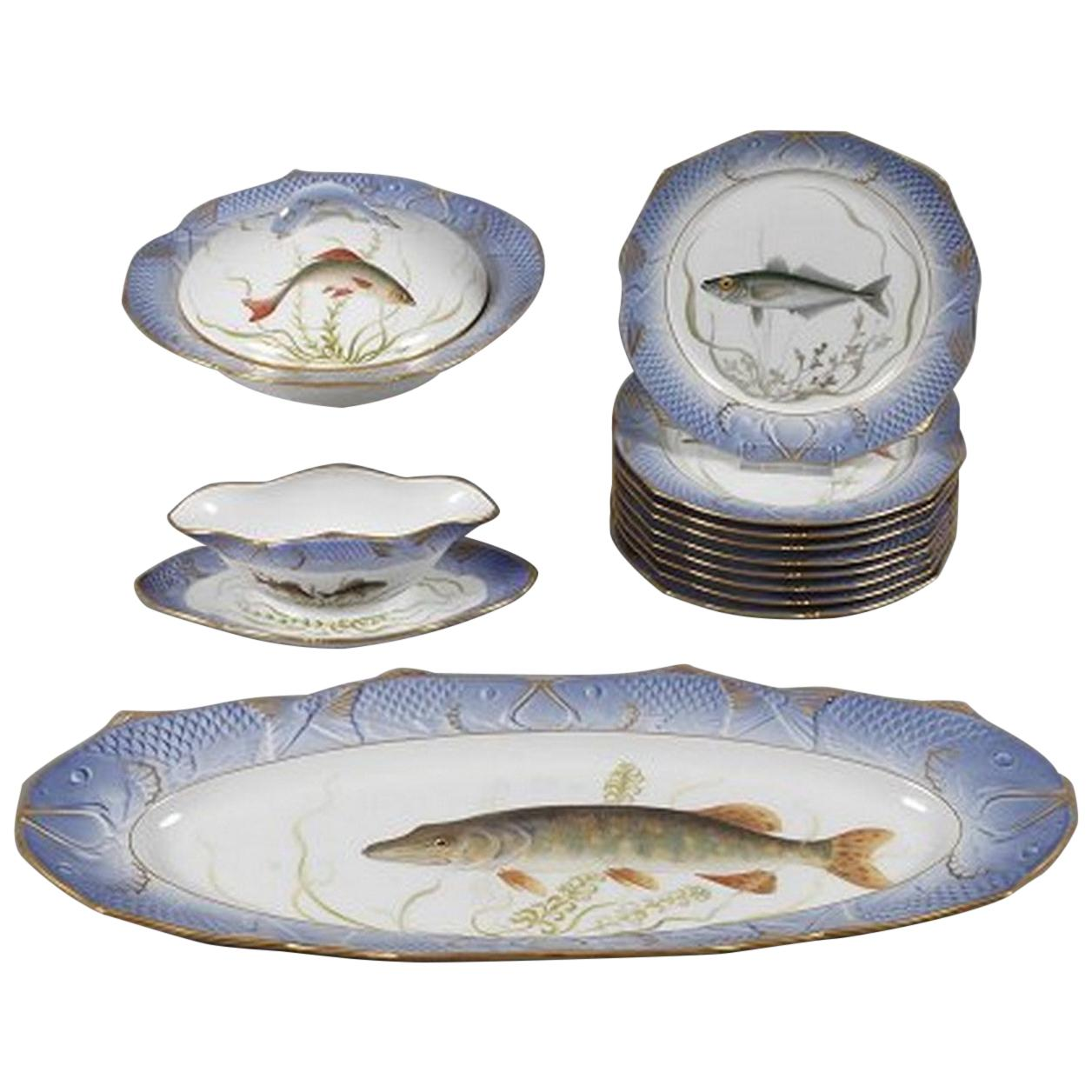 Royal Copenhagen Blue Fish Service for 8 Persons