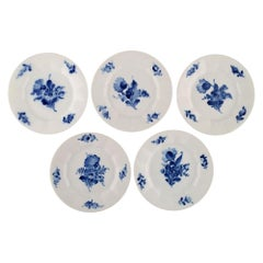 Royal Copenhagen, Blue Flower Angular, Five Porcelain Cake Plates