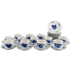 Royal Copenhagen Blue Flower Braided Coffee Service for Twelve People