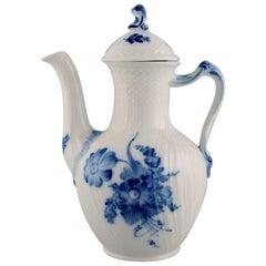 Royal Copenhagen Blue Flower Curved Coffee Pot, Dated 1965