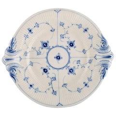 Royal Copenhagen Blue Fluted Plain Round Serving Dish, Model Number 1/319