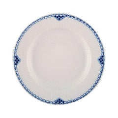 Royal Copenhagen Blue Painted Pricess Dinner Plate in Porcelain, 18 Pieces