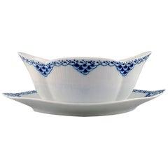 Royal Copenhagen Blue Painted Princess Sauce Boat in Porcelain