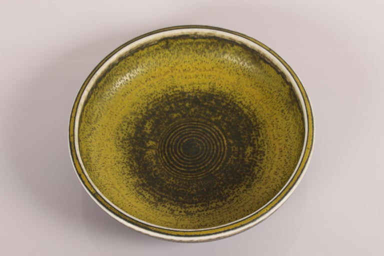 Mid-Century Modern Royal Copenhagen and Carl Halier Bowl with Solfatara Glaze, Denmark