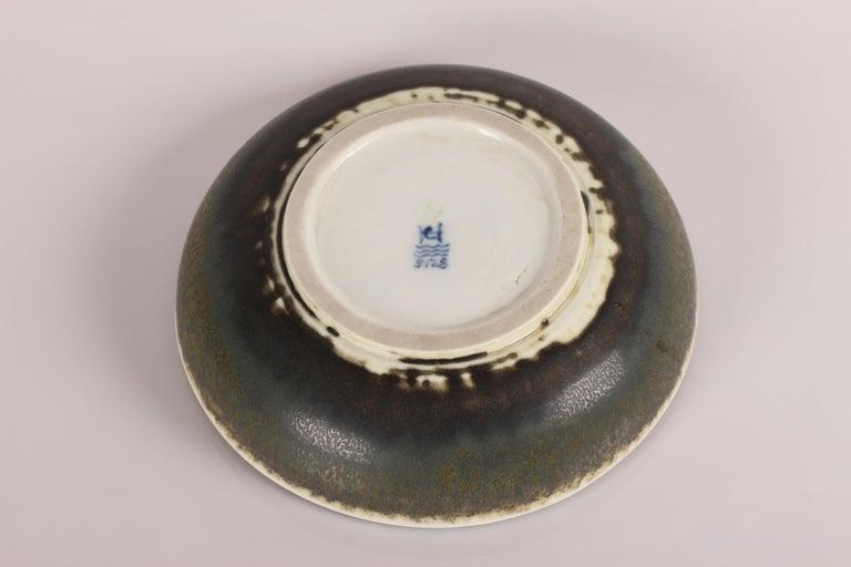 Glazed Royal Copenhagen and Carl Halier Bowl with Solfatara Glaze, Denmark