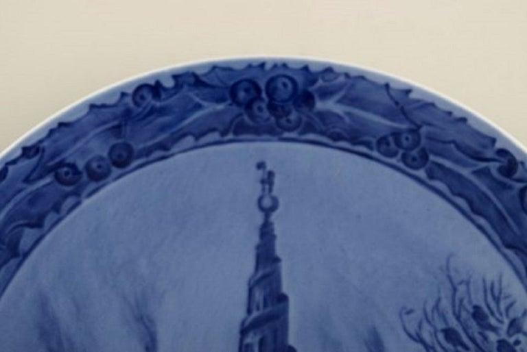 Danish Royal Copenhagen Christmas Plate from 1917 For Sale
