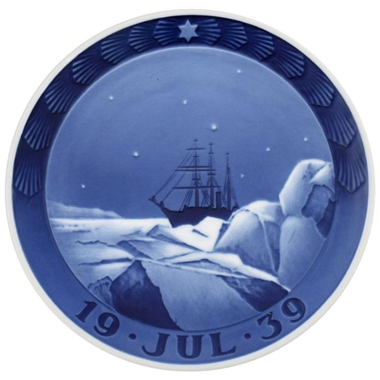 Royal Copenhagen, Christmas plate from 1939 For Sale