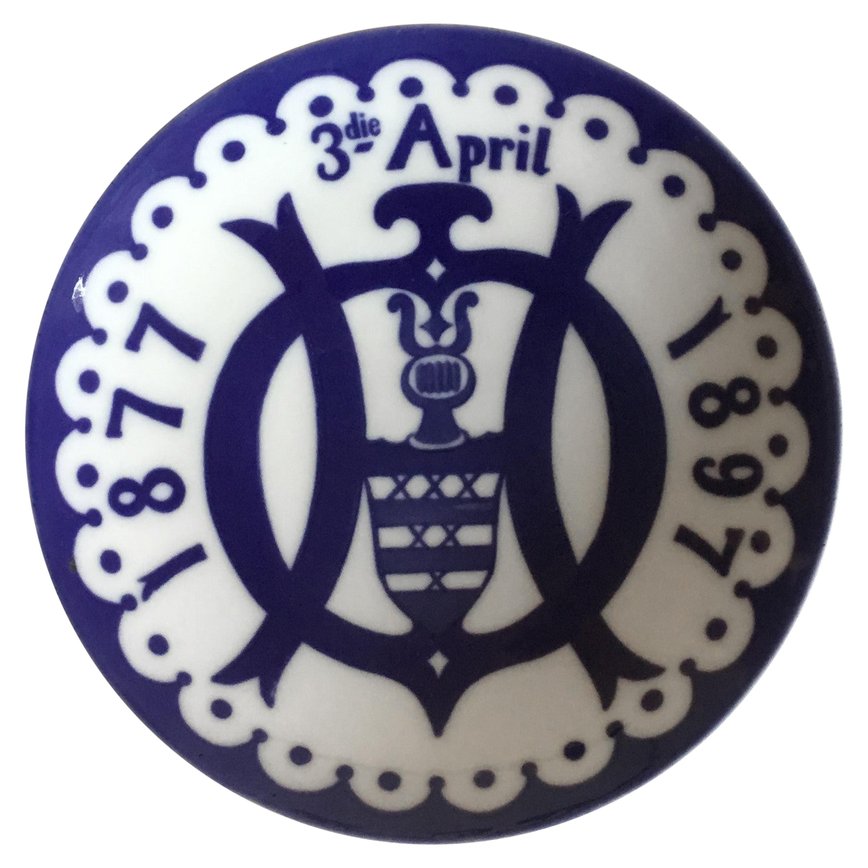 Royal Copenhagen Commemorative Plate from 1897 Unique RC-CM8