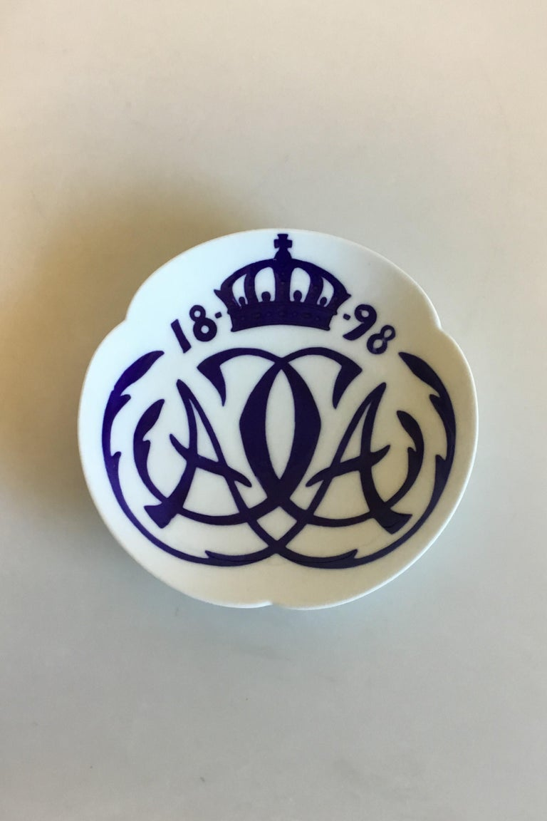 Art Nouveau Royal Copenhagen Commemorative Plate from 1898 RC-CM18 For Sale