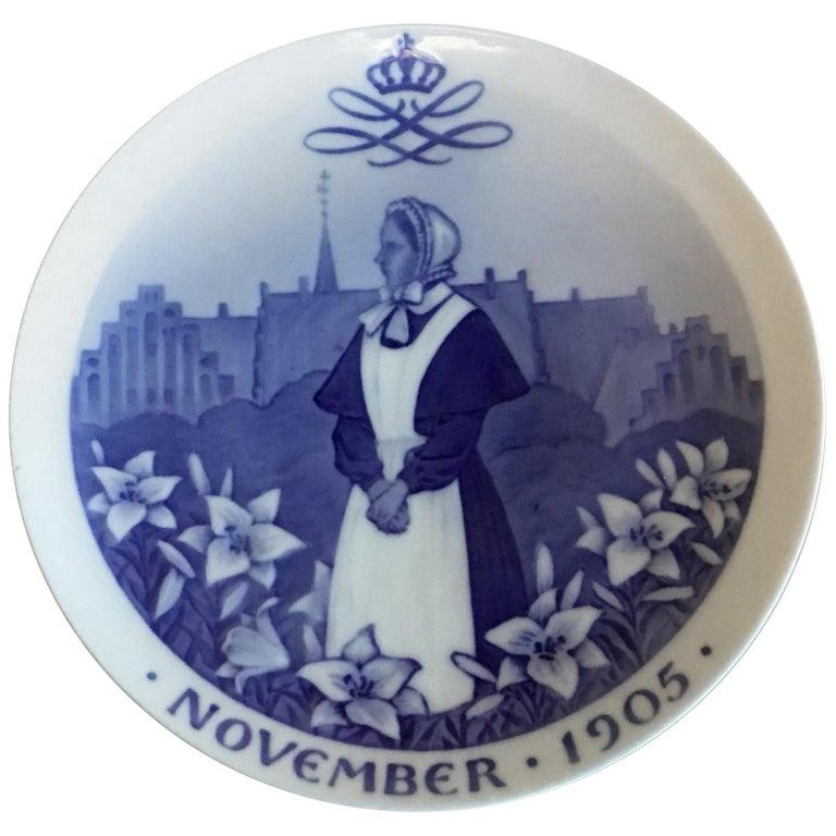 Royal Copenhagen Commemorative Plate from 1905 RC-CM57 For Sale