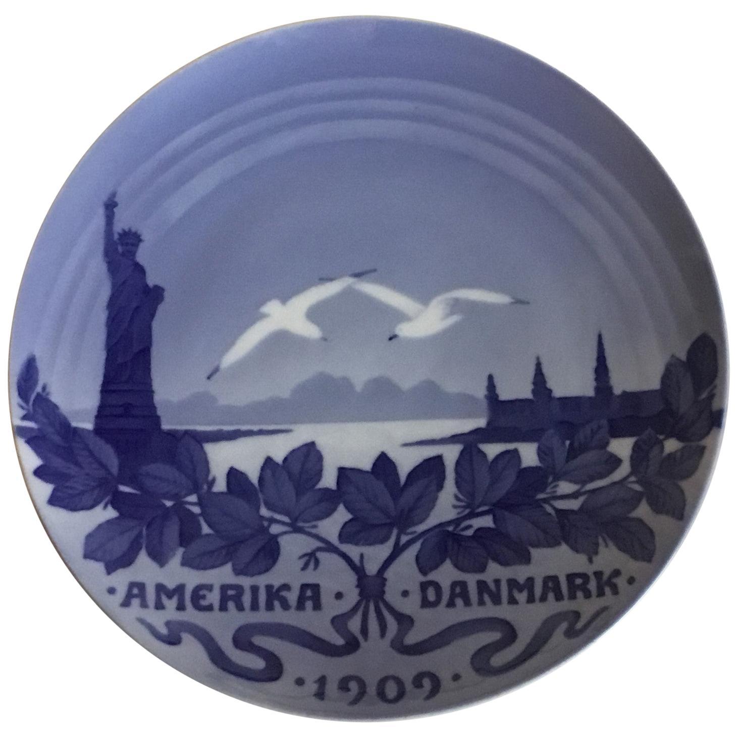 Royal Copenhagen Commemorative Plate from 1909 RC-CM1022
