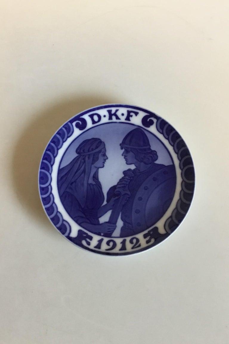 Art Nouveau Royal Copenhagen Commemorative Plate from 1912 RC-CM136 For Sale