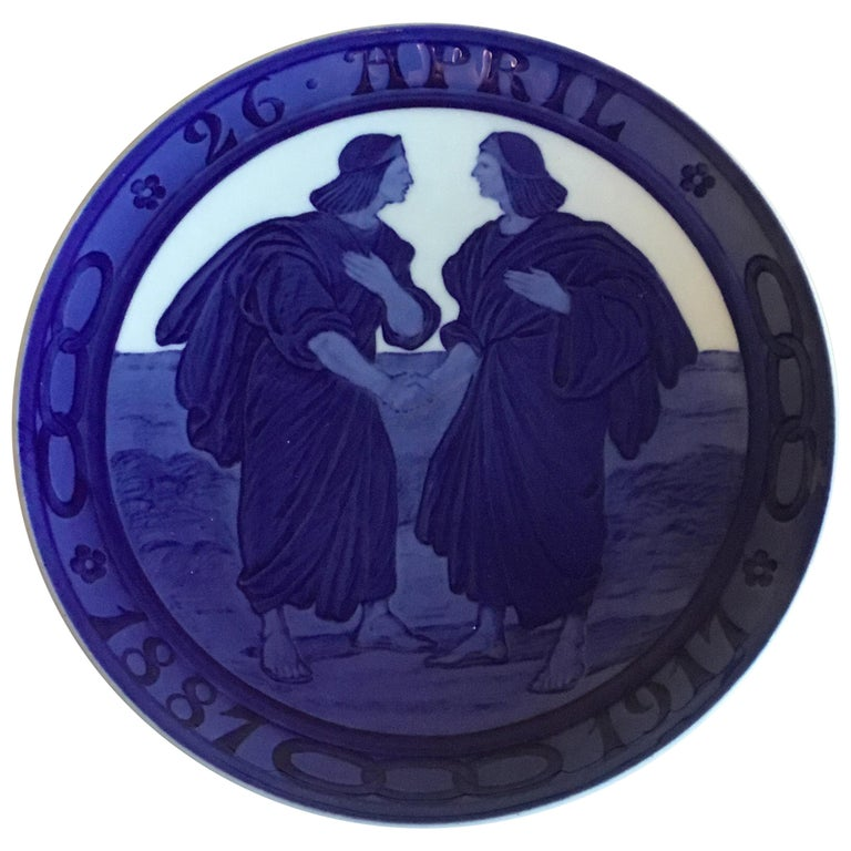 Royal Copenhagen Commemorative Plate from 1917 RC-CM168 For Sale