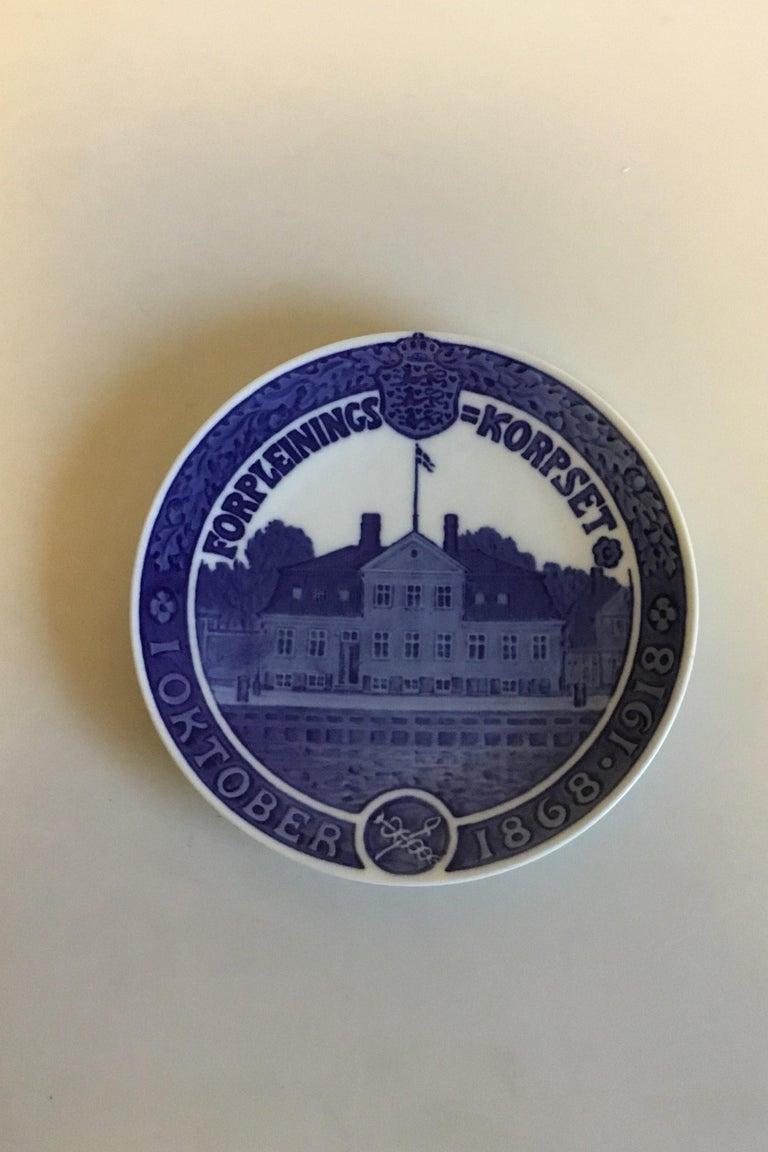 Art Nouveau Royal Copenhagen Commemorative Plate from 1918 RC-CM181 For Sale