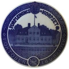 Royal Copenhagen Commemorative Plate from 1918 RC-CM181