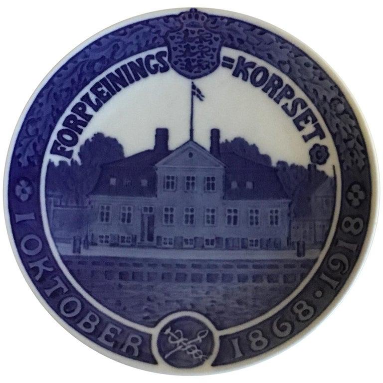 Royal Copenhagen Commemorative Plate from 1918 RC-CM181 For Sale
