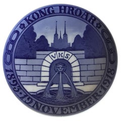 Royal Copenhagen Commemorative Plate from 1918 RC-CM184