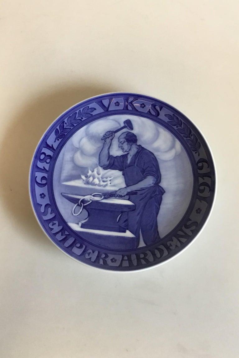 Art Nouveau Royal Copenhagen Commemorative Plate from 1920 RC-CM189 For Sale