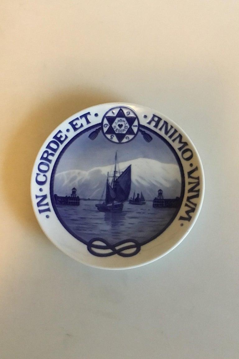 Art Nouveau Royal Copenhagen Commemorative Plate from 1922 RC-CM207 For Sale