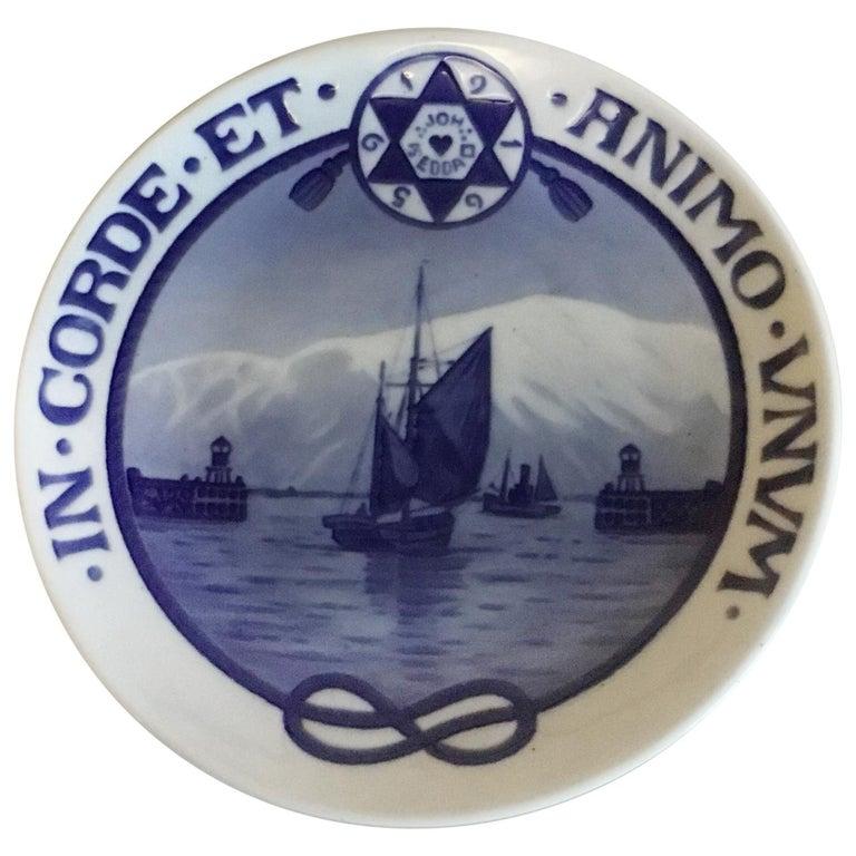 Royal Copenhagen Commemorative Plate from 1922 RC-CM207 For Sale