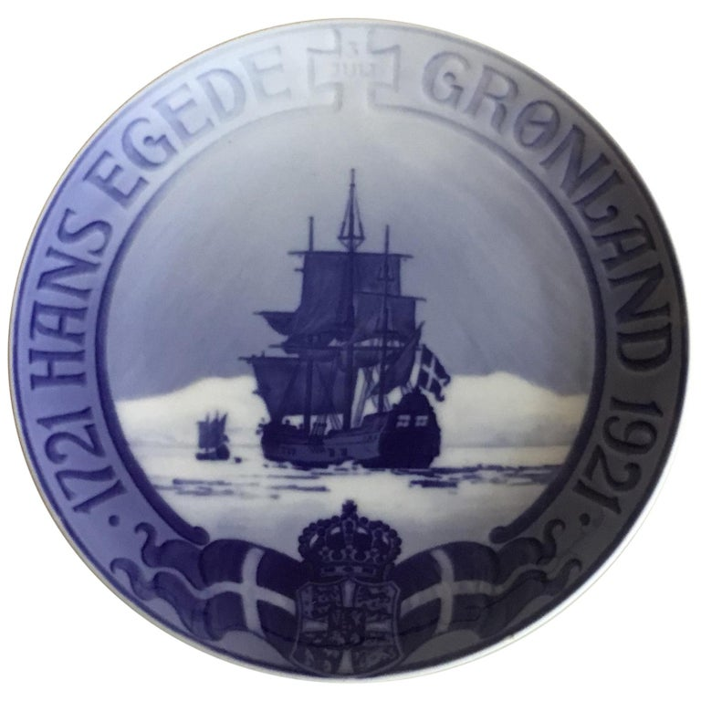 Royal Copenhagen Commemorative Plate from 1922 RC-CM208 For Sale