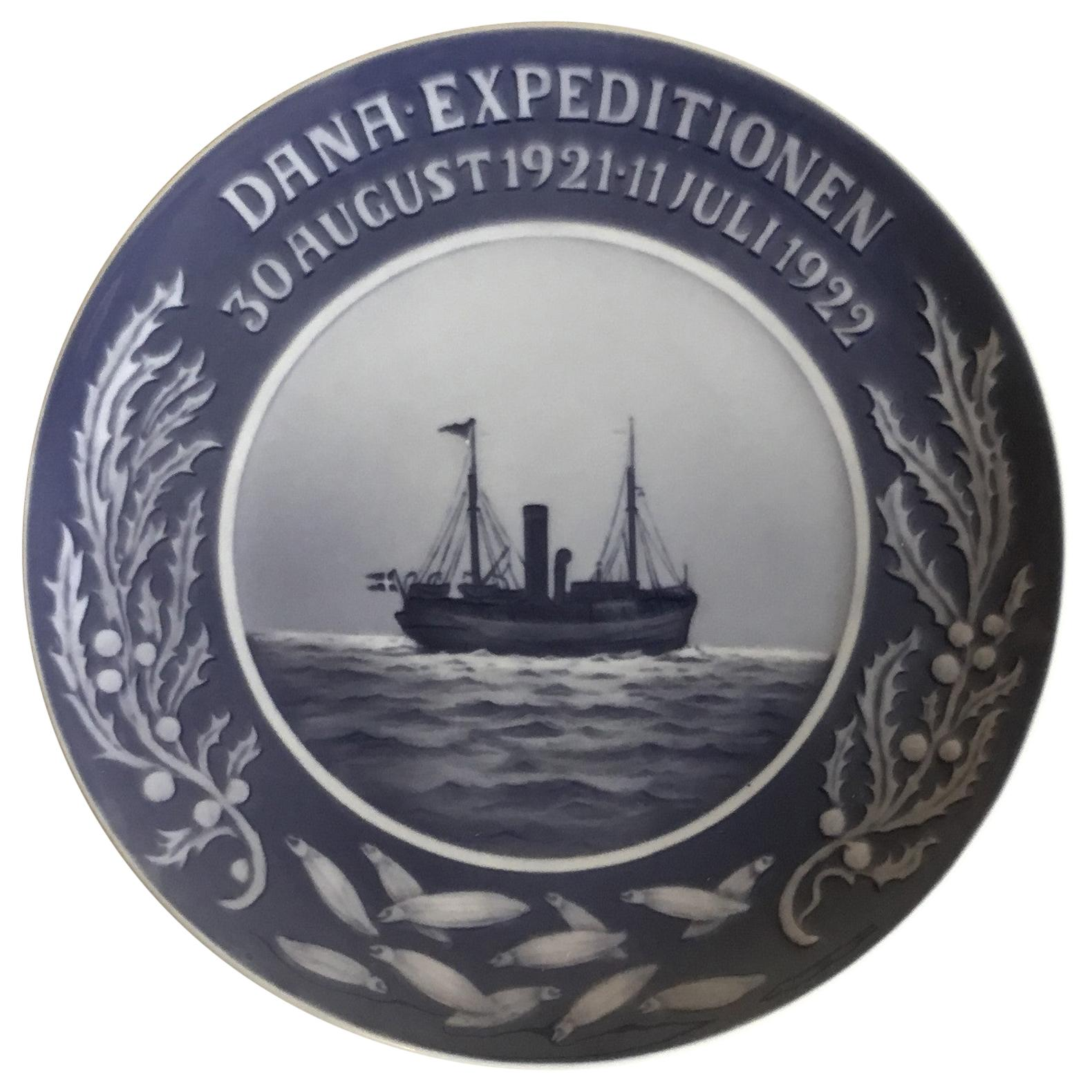 Royal Copenhagen Commemorative Plate from 1922 RC-CM217 Dana Expedition