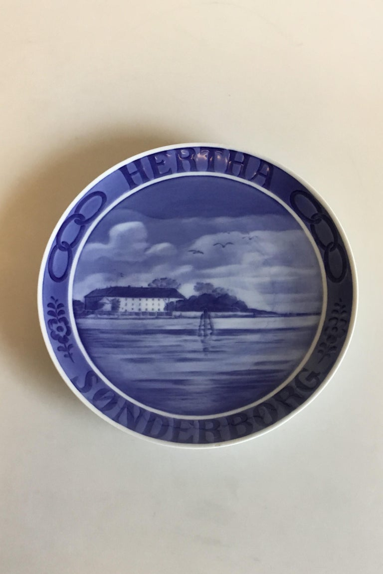 Art Nouveau Royal Copenhagen Commemorative Plate from 1925 RC-CM233 For Sale