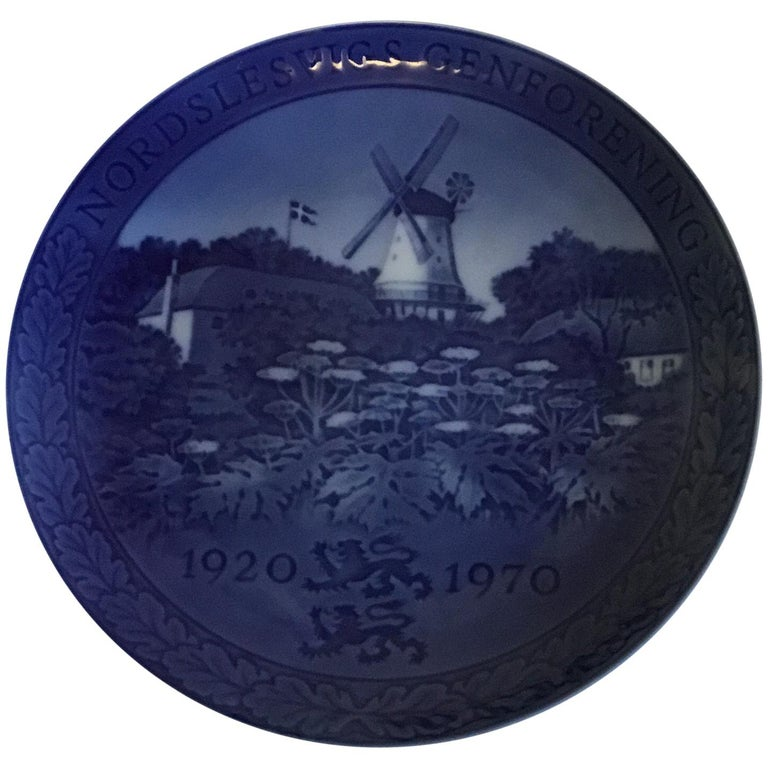 Royal Copenhagen Commemorative Plate from 1970 RC-CM325 For Sale