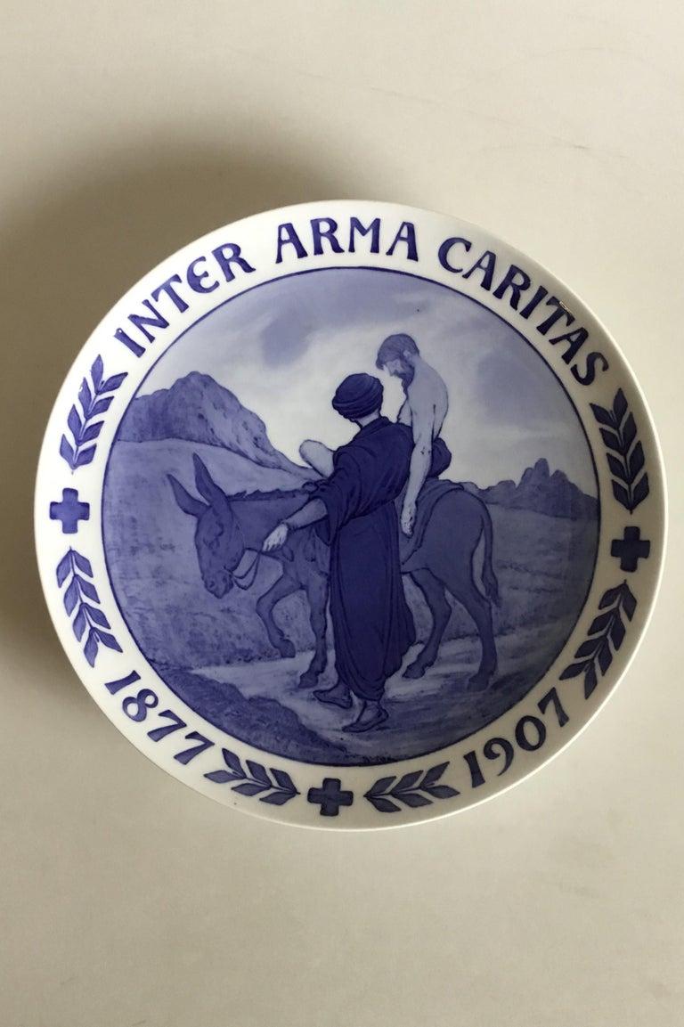 Art Nouveau Royal Copenhagen Commemorative Plate RC-CM68A For Sale