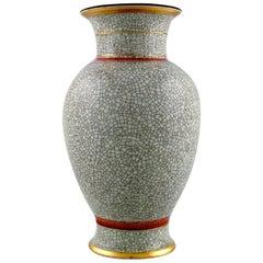 Royal Copenhagen Crackled / Craquelé Vase in Glazed Ceramic, 1930s-1940s